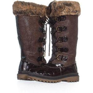 KHOMBU Quechee Stingray Brown Leather Waterproof